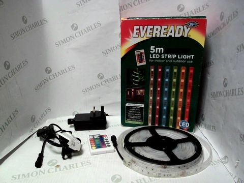 Lot 7606 EVEREADY 5M PRO SERIES COLOUR CHANGING LED STRIP LIGHT