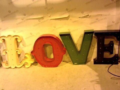 Lot 1059 MULTICOLOURED LED LOVE SIGN