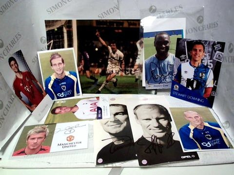 Lot 7665 LOT OF APPROXIMATELY 40 FOOTBALL PLAYER MEMORABILIA PHOTOGRAPHS AND POSTCARDS, SOME SIGNED