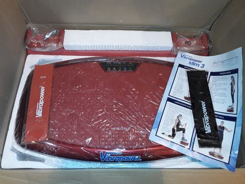 Lot 1105 VIBRAPOWER SLIM 3 WITH EQUIPMENT MAT - RED