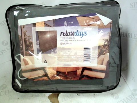 Lot 15305 RELAXDAYS GREY SHADE WATER-REPELLENT UV-PROTECTION CANOPY