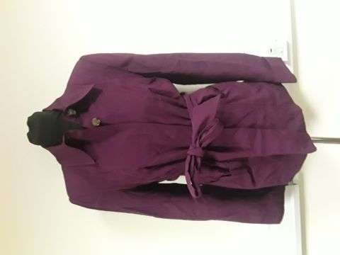Lot 13035 FINERY LONDON PURPLE JACKET SIZE 8