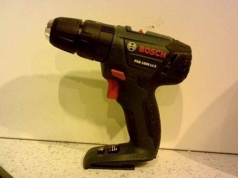 Lot 12265 BOSCH PSR 1800 LI-2 CORDLESS TWO-SPEED DRILL/DRIVER (WITHOUT BATTERY AND CHARGER)