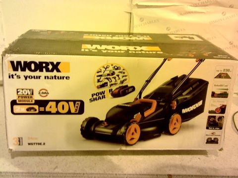 Lot 13176 WORX WG779E.1 36V CORDLESS LAWNMOWER