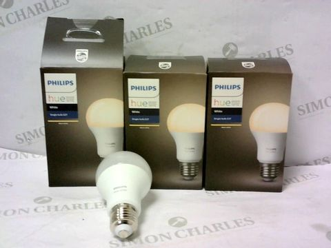 Lot 10461 LOT OF 3 PHILIPS HUE WHITE EXTENSION LED BULBS - SCREW FIT