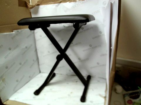 Lot 10324 CRYSTALS KEYBOARD STAND AND STOOL - BLACK