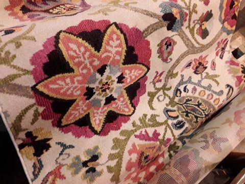 Lot 554 DESIGNER SAFAVIEH MONACO PINK/MULTI COLOURED RUG 120 × 180