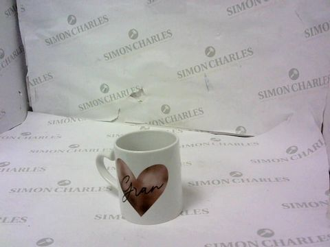 Lot 47 PERSONALISED ROSE GOLD HEART HANDLE MUG  RRP £15.99