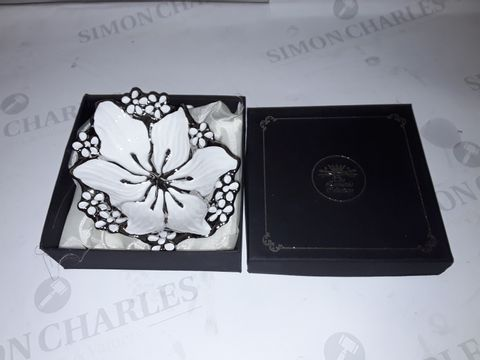 Lot 8077 BOXED LEONARDO COLLECTION FLORAL THEMED DECORATIVE DISH