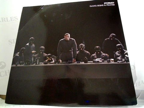 Lot 8284 LOT OF 10 ASSORTED VINYL RECORDS TO INCLUDE; STORMZY, THUG LIFE, KANYE WEST ETC