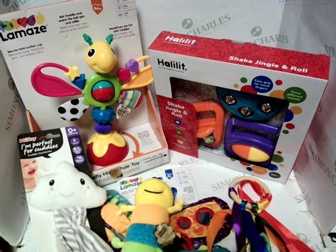 Lot 72 BABY SENSORY MUSICAL ASSORTMENT LAMAZE HALILIT NUBY 5pc  3m+