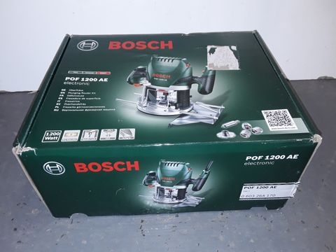 Lot 1191 BOSCH POF1200AE ELECTRONIC PLUNGING ROUTER KIT