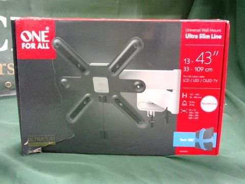 Lot 1047 ONE FOR ALL ULTRA SLIM LINE UNIVERSAL TV WALL MOUNT