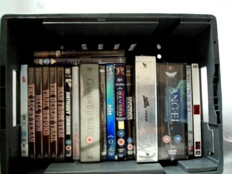 Lot 8275 LOT OF APPROXIMATELY 20 ASSORTED DVD'S TO INCLUDE; ANGEL, G.O.T., DOWNTON ABBEY ETC