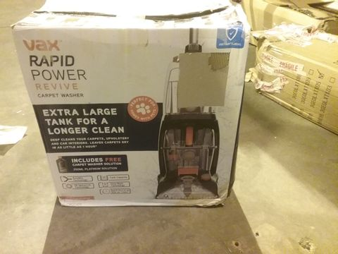 Lot 2156 VAX RAPID POWER REVIVE CARPET WASHER