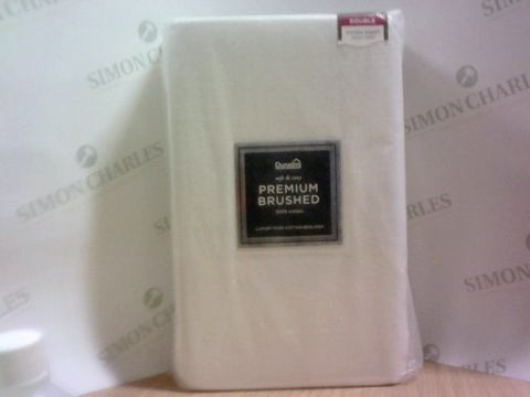 Lot 1001 DUNELM SOFT AND COSY 100% COTTON LUXURY BED LINEN - DOUBLE FITTED SHEET 25CM DEEP
