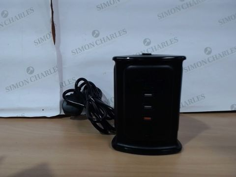 Lot 3166 SAFEMORE SURGE PROTECTION 4 WAY PLUG EXTENDER W/4 USB PORTS & WIRELESS CHARGING
