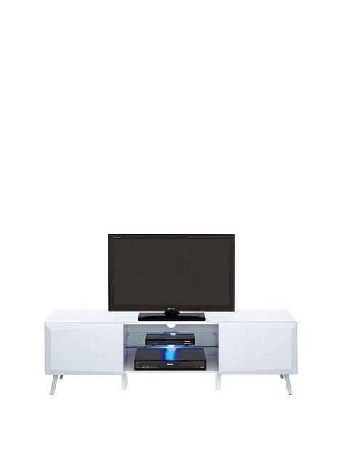 Lot 5281 WHITE HIGH GLOSS XANDER TV STAND (1 BOX)