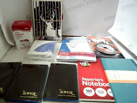 Lot 7032 LOT OF ASSORTED ITEMS TO INCLUDE; NOTEBOOKS, REVISION CARDS ETC