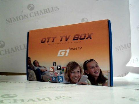 Lot 8123 OTT TV BOX G1 SMART T V