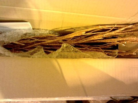 Lot 11069 ALISON CORK INDOOR PRE-LIT GLITTER BRANCH TREE - BRONZE 180CM