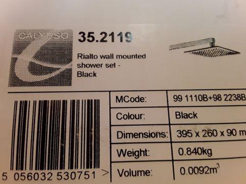 Lot 10661 BOXED CALYPSO RIALTO WALL MOUNTED SHOWER SET BLACK