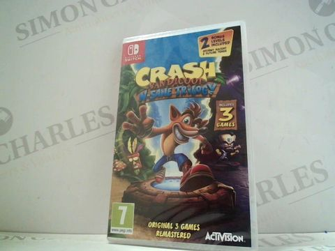 Lot 4820 CRASH BANDICOOT N.SANE TRILOGY NINTENDO SWITCH GAME