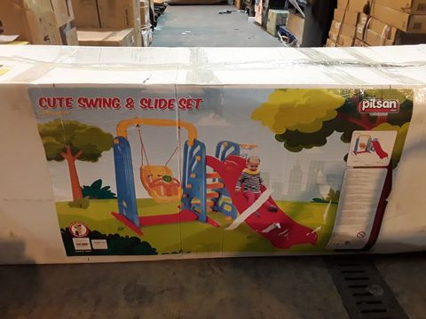 Lot 6025 BOXED CUTE SWING AND SLIDE SET (1 BOX)