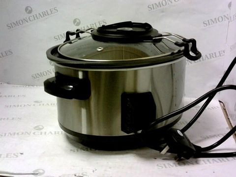 Lot 11250 MORPHY RICHARDS 460009 SEAR, STEW AND STIR SLOW COOKER INTEGRATED AUTO STIRRER, ALUMINIUM, 163 W, 3.5 LITERS, SILVER