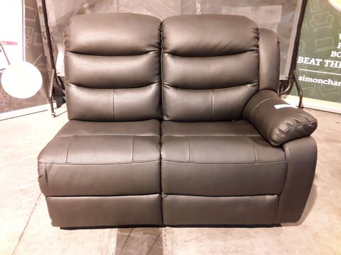 Lot 533 ROTHEBURY BLACK FAUX LEATHER MANUAL RECLINING SECTION