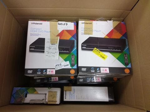 Lot 12445 BOX OF A LARGE QUANTITY OF ASSORTED POLAROID COMPACT HDMI DVD PLAYERS