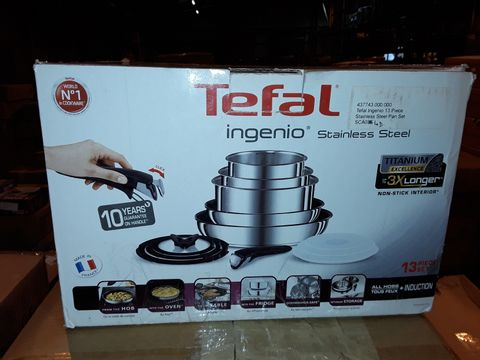 Lot 8282 TEFAL INGENIO STAINLESS STEEL COOKWARE SET