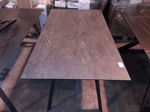 Lot 102 DESIGNER BLACK SLATE EFFECT RECTANGULAR EXTENDING DINING TABLE