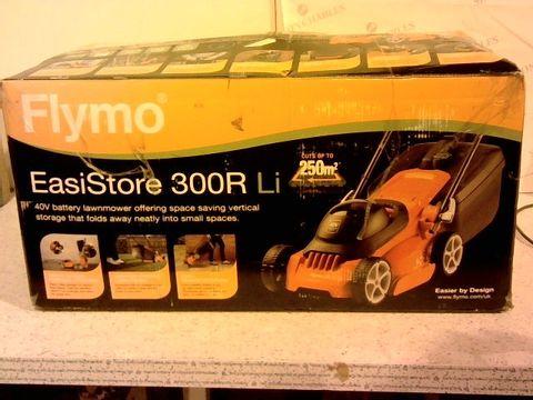 Lot 13058 FLYMO EASISTORE 300R LI CORDLESS ROTARY LAWN MOWER