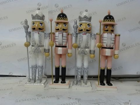 Lot 616 LOT OF 2 SETS OF 2 WOODEN NUTCRACKERS RRP £66.00