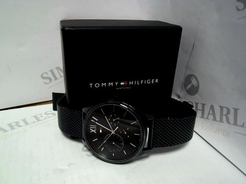 Lot 415 TOMMY HILFIGER BLUE AND SILVER WATCH RRP £235.00