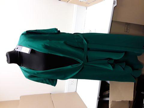 Lot 2066 DESIGNER PHASE EIGHT FIORELIA APPLE GREEN WRAP DRESS SIZE UK 18 RRP £120.00