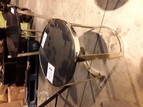Lot 56 DESIGNER GILT METAL FRAMED CIRCULAR BLACK MARBLE EFFECT SIDE TABLE