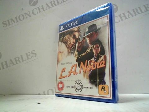 Lot 3027 L.A. NOIRE PLAYSTATION 4 GAME