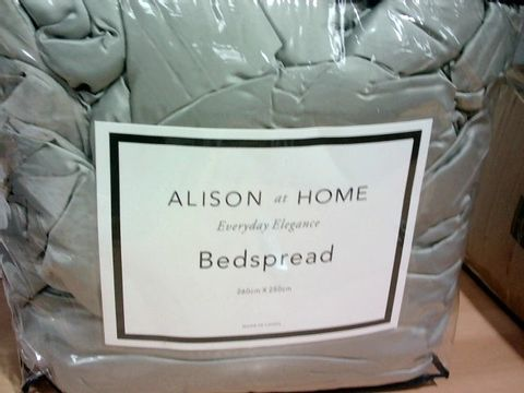Lot 3394 ALISON AT HOME BEDSPREAD IN EUCALYPTUS 260X250