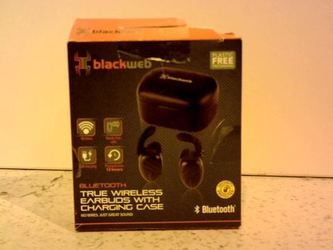Lot 12304 BLACKWEB TRUE WIRELESS EARBUDS WITH CHARGING CASE