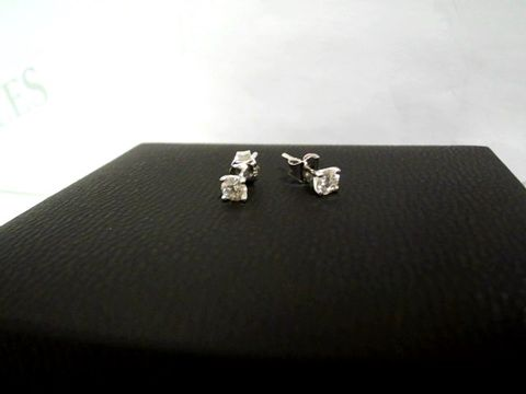 Lot 9058 LOVE DIAMOND 18CT WHITE GOLD 50 POINT DIAMOND SOLITAIRE EARRINGS