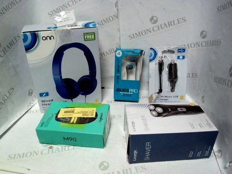 Lot 8131 LOT OF APPROXIMATELY 11 ASSORTED ELECTRICAL ITEMS, TO INCLUDE CAR PHONE CHARGER, EARPHONES, CORDED MOUSE, ETC