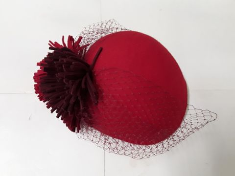 Lot 34 LILY LEWIS MILLINERY OCCASIONAL HAT IN RED
