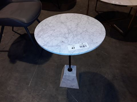 Lot 47 DESIGNER CIRCULAR PEDESTAL COFFEE TABLE