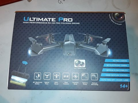 Lot 1086 ULTIMATE PRO HIGH PERFORMANCE RC-HD PRO FOLDING DRONE
