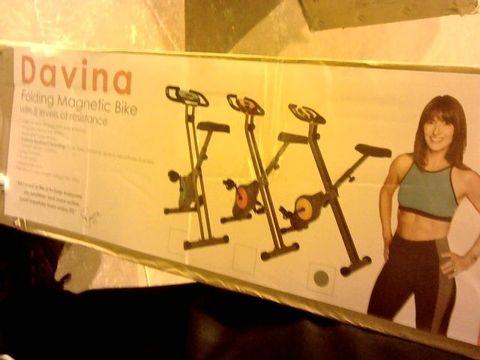 Lot 11027 DAVINA FITNESS FOLDING MAGNETIC EXERCISE BIKE
