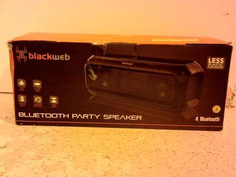 Lot 12300 BLACKWEB BLUETOOTH PARTY SPEAKER