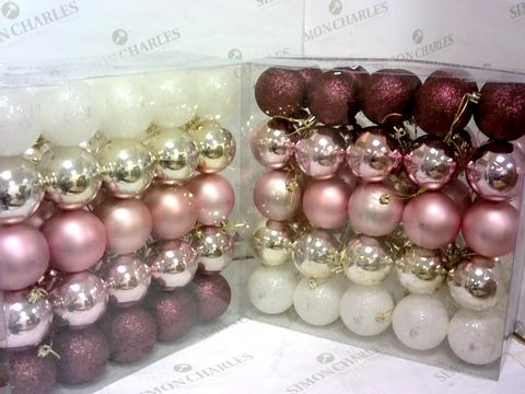Lot 68 50 PACK BAUBLES FROSTED ROSE X 2 RRP £25.98