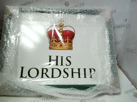 Lot 133 CUSHION TRAY - HIS LORDSHIP